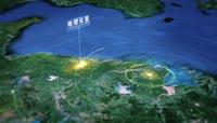 d32技动感三维空间演绎区域地图导航地理位置模版