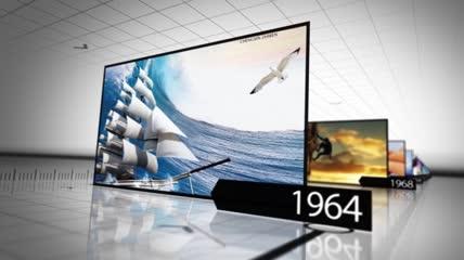 d39场景企业时间轴发展历程大事记宣传片头模板