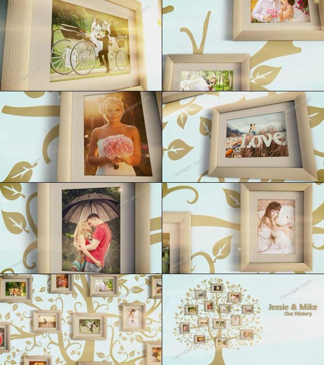甜蜜故事照片树