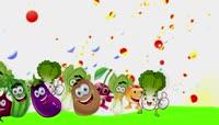 卡通蔬菜水果狂欢