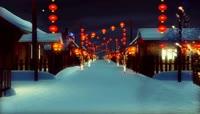 张灯结彩过年春节