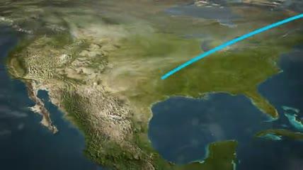 世界地图全球连线动画演示的创建器AE模板