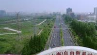 上海自由贸易试验区办理企业营业执照人流延时摄影