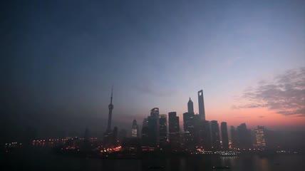 ST01951深圳广州上海天津高楼塔吊清晨剪影工人焊工劳动劳作