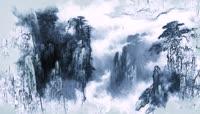 ST00344中国风中国韵传统国画传统山水画水墨墨汁片头效果山水水乡江南雄鹰山川松树
