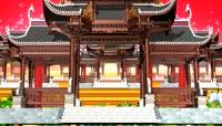 ST00074古代牌楼视频无限循环喜庆古代建筑