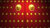 ST00346中国功夫北京故宫门金色长城夕阳日晷天坛石狮子雕塑雕刻雕像城墙红墙皇宫宫殿