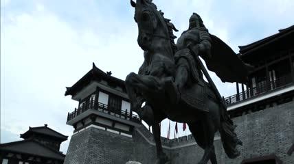 ST01484江苏宿迁市项王故里项羽骑马雕塑