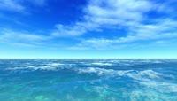 ST00275蔚蓝色大海仙鹤