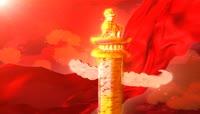 ST00343中国风龙腾狮舞闹新春春节喜庆龙腾虎跃大红灯笼开场华表中国龙灯笼金龙