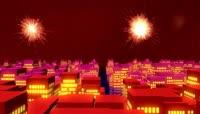 ST00301新年喜庆背景张灯结彩舞台阿宝王二妮央视春晚鸡年晚会红红火火粒子光效动感节奏年会大红灯笼唯美