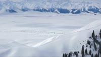 ST01155新疆天山美景白雪皑皑山峰相连冰川