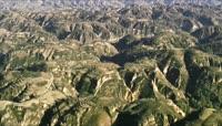 ST00996陕西黄土高原地貌环保绿草地覆盖