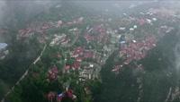 ST01249航拍庐山牯岭镇西式红色屋顶别墅避暑胜地