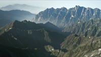 ST00997陕西秦岭最高峰太白山白雪皑皑高山耸立