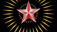 ST01364七一八一国庆建党节党旗党徽光芒扩散五角星1