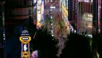 上海繁华商业街南京路外滩上海夜景灯火辉煌美景
