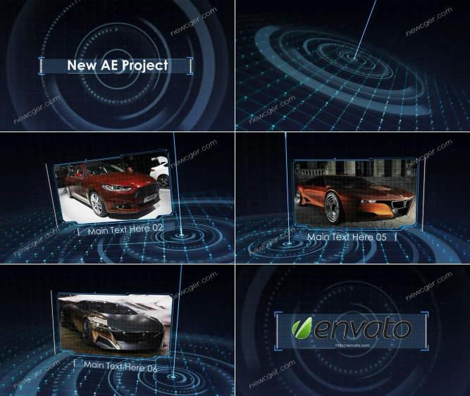 未来派高新技术网格空间内容展示AE工程