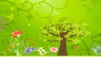 春夏秋冬四季变幻唯美卡通花草树木演示动画四季背景视频素材
