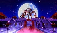 唯美梦幻月色羽毛纷飞古代皇宫祭祀 大屏幕LED高清背景视频素材