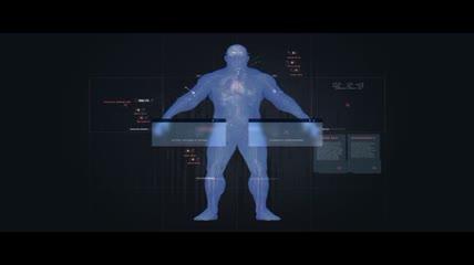 高新科技技术\-模拟人体扫描效果AE模板