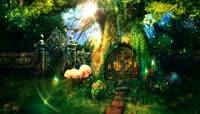 1\.绿色大树小木屋