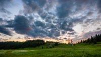 高清美丽的自然云海山脉延时摄影