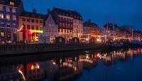 美丽的欧洲城市建筑城市夜景