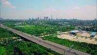 实拍航拍大武汉中国武钢高清视频素材