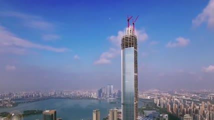 实拍航拍延时苏州城市宣传片高清视频素材