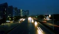 郑州夜景延时摄影高清素材