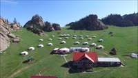 高清内蒙古美丽的风景旅游营地实拍视频