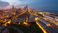 高清实拍城市夜景视频素材