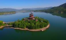 湖泊唯美山水风光古典建筑特色景点实拍