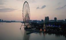4K苏州城市风光航拍实拍视频