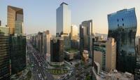 高清实拍韩国首尔旅游城市延时拍摄影