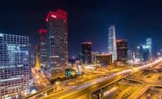 高清实拍近代北京带雪景的延时素材视频