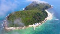 航拍 海南 南沙群岛 中国 海浪 旅游