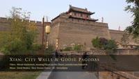 4K超清实拍中国西安古城墙雁塔庙宇大慈恩
