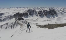 高清实拍航拍滑雪体育运动视频素材
