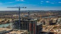 高清延时摄影城市建设建筑施工视频素材