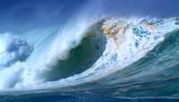 实拍震撼大气大海海浪涌动拍打视频素材2