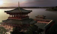 雄伟壮丽古代皇宫宫殿城市宫城建筑展示