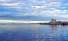 延时摄影海边沙滩周边自然风光视频素材