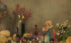 超清2K青花瓷蔬菜水果特美食写镜头实拍