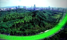 生态城市宣传片现代都市交通航拍