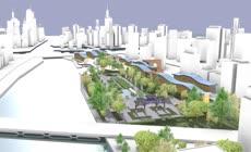 现代3D园林绿化设计视频素材