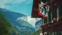美丽的旅游风景跳伞瀑布延时摄影
