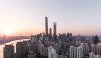 上海城市大厦地标建筑4K