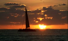 实拍海上帆船视频 宣传片视频